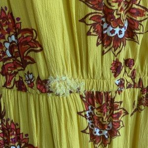 XL yellow floral Old navy dress
